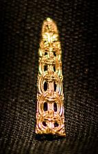 Belt tip, thin, openwork, knot pattern - Z-53