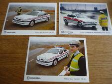 3 ORIGINAL POLICE CAR VECTRA & CAVALIER SRi 16v PRESS PHOTO 'BROCHURE' RELATED