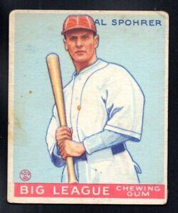 AL SPOHRER ROOKIE braves 1933 GOUDEY #161