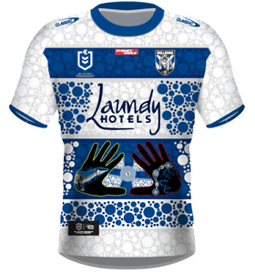 Canterbury Bulldogs 2021 Indigenous Jersey Adults & Kids NRL Classic In Stock