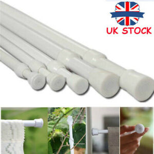 1pc 2021 Spring Loaded Extendable Telescopic Net Voile Tension Curtain Rail Pole