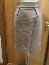 Les Copains Beige Wool Cashmere Skirt Size 42
