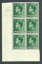 1936, Sg457, P1, ½d Green, A36 / 16 no dot, Mm, (02802)