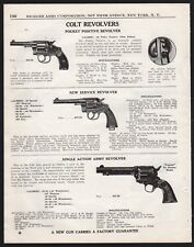 1940 COLT Pocket Positive, New Service, Single Action Army Revolver PRINT AD
