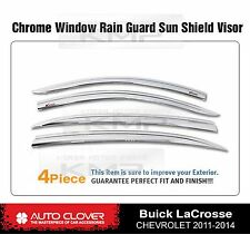 Chrome Window Visor Rain Sun Guards 4P C551 For BUICK 2010-2013 Lacrosse