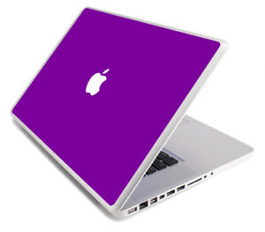 PURPLE Vinyl Lid Skin Cover Decal fits Apple MacBook Pro 15 A1268 Laptop