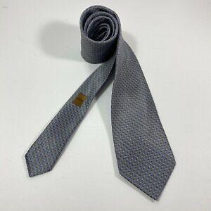 Brioni Tie Italy Woven Micro Navy  Brown Necktie Luxury Silk Ties  New