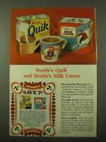 1971 Nestle's Quik and Milk Cocoa Ad