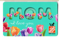 gift card HOME DEPOT 🔧🛠️⚙ 🌹 🌷 Canada USA Collectible Mom I love you flower
