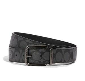 Coach Men Wide Harness Cut-To-Size Reversible Belt QB/Black 91283