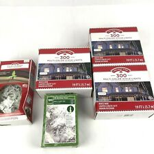 NEW Holiday Time 1000 Multi-Color Icicle Lights White Indoor/Outdoor With Clips
