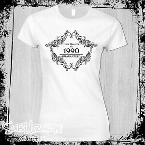 30th Birthday T-Shirt Established in 1990 Women's Multiple colours Funny Gift