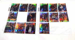 Lot of (15) Different 1998-99 Finest Basketball Refractors
