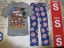 MARVEL COMICS RED SKULL Pajamas  2 PIECE SLEEP Set SIZE SMALL MENS NWT