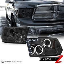 2009-2018 Dodge RAM 1500 2500 3500 Fumo Halo LED Proiettore Fari Lampada Coppia