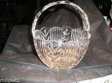 Lead Crystal Glass Bridal Basket - Very nice!