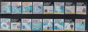 MARSHALL ISL DEFINITIVE ISSUES 1c-$1.00 (16 STAMPS)  MINT N/H. FRESH
