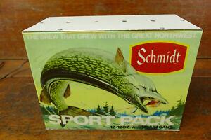 RARE Vintage Schmidt Beer Sports Pack Fishing Northern Bar Pub Tavern Light Sign