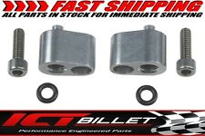 """LS 1/8"""" Coolant Steam Port Top Exit Cylinder Head Crossover Tube Adapter Billet"""