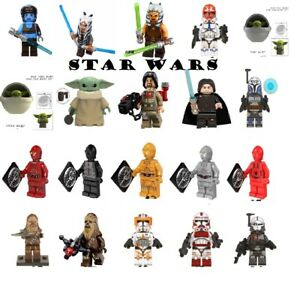 Lego Star Wars Minifigures Yoda Luke Grogu Count Doku Darth Vader Building Toys