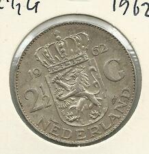 2 1/2 Gulden  Juliana, zilver (Rijksdaalder)  / 1962 / ZIE SCANS VOOR KWALITEIT!