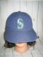 SEATTLE MARINERS BASEBALL HAT CAP ADULT ON SIZE MLB BLUE SNAPBACK