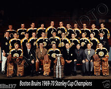 1969-70 BOSTON BRUINS STANLEY CUP CHAMPIONS 8X10 TEAM PHOTO #2