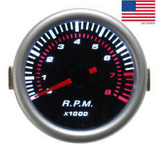 "Car Auto 2"" 52mm Digital White & Red Led Electronic Tachometer Tacho Gauge  ~"