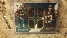 KELVIN BENJAMIN 2014 PANINI ABSOLUTE ROOKIE TOOLS OF THE TRADE QUAD JERSEY #'RD