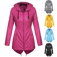 Women's Lightweight Hooded Raincoat Waterproof Active Outdoor Rain Jacket Coat