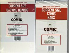 More details for 100 current size comic concept bags & boards