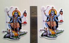 "Kali Kaali Maa  ~ 2 Sticker Stickers (Front & Back Same Print) 3""x5"""