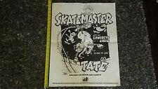 VTG 80's HUGE SKATEMASTER TATE SMT HIP HOP SKATEBOARD SIGN BANNER POSTER sticker