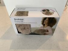 Brookstone Buzzy Mitt Pillow & Hand Muff with Built-in Vibration Massage - New