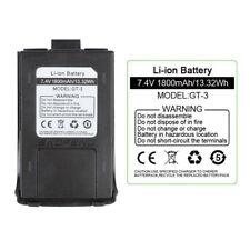 Original 1800mAh Li-ion Battery for Baofeng GT-3 GT-3TP Dual Band Two-way Radio