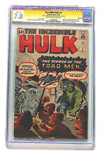 INCREDIBLE HULK #2  -  CGC 7.0 (July 1962)      🔥 Signed by STAN LEE 🔥