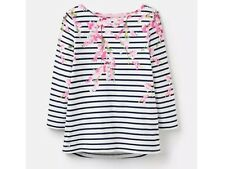 Joules Harbour Print Navy Blossom Stripe Size 16