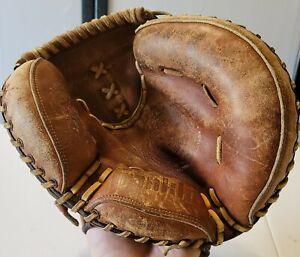 Vintage Franklin 4257 Catcher's Mitt for Right-handed Thrower Baseball Glove