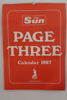 The Sun Page 3 1987 Calendar - Very Rare Collectors Item - (NEW! MINT!)