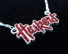 new! University of NEBRASKA CORNHUSKERS RED CRYSTAL NECKLACE Huskers jewelry