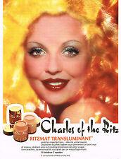 PUBLICITE  1972   CHARLES OF THE RITZ  cosmétiques