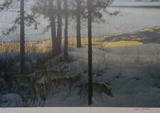 Robert Bateman, Edge of Night Timberwolves - S/N LE Lithograph, A/P # 103, Mint