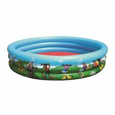 """Bestway 91007 Piscina Infantil """"Mickey Mouse Clubhouse"""" 122x25cm 3 ANILLOS"""