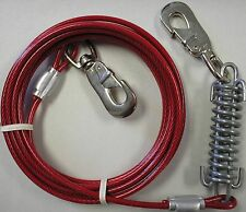 15 Ft Large Dog Tie Out Cable Leash with heavy duty spring