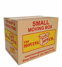 50 BOOK WINE MOVING BOXES $2.19 each, SMALL CARDBOARD REMOVALIST PACKING CARTONS