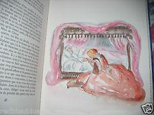 """Princesse de Clèves"" Madame de Lafayette Aquarelles Original Minache 1972 1/80"