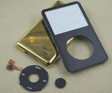 Black Gold Faceplate Housing Back Case Cover Clickwheel fr iPod 6th Classic 80GB