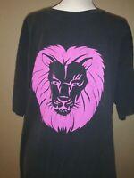 Harley Davidson Vintage Pink Lion Usa Made  Men's T-Shirt Sz Xl May Run Smaller