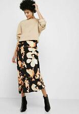 b70131e4a BNWT Topshop Tie Dye Satin Bias Midi Skirt Black Size 10