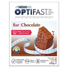 * OPTIFAST VLCD 6 X 70G BARS 420G CHOCOLATE FLAVOUR LOW CALORIE DIET WEIGHT LOSS